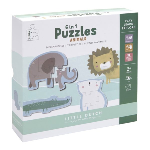 Little Dutch Puzzle Set Zootiere