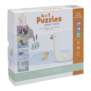 LD4754_4 in 1 Puzzle Set Little Goose