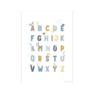 Little Dutch Poster Little Goose Alphabet Blau